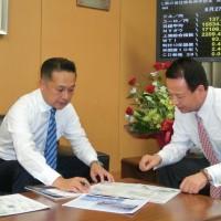 甘利大臣と川崎の未来について議論